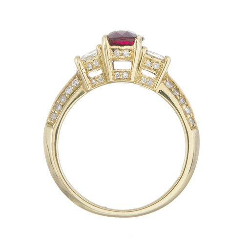 1.52 Carat Ruby and Diamond Ring