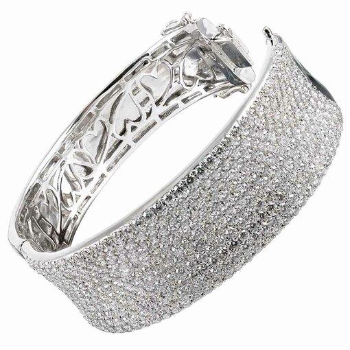 14k White Gold Pave Diamond Bracelet