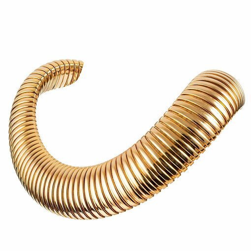 Extra Wide 18k Gaspipe Collar Necklace
