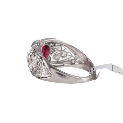 Art Deco 2.02 Carat Ruby & Diamond Ring