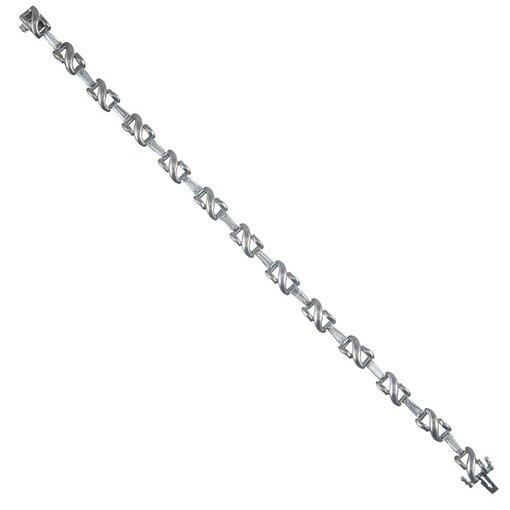 2.20 Carat Tapered Baguette Diamond Bracelet, signed Kurt Wayne