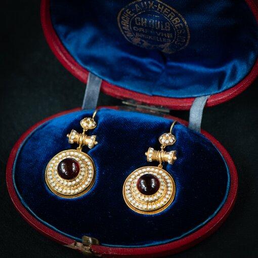 Incredible Victorian Bracelet, Brooch & Earrings Suite in Original Box