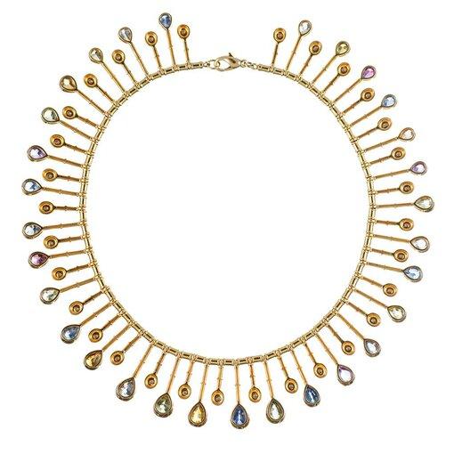 """58.59 """"No Heat"""" Sapphire & Diamond Collar"""