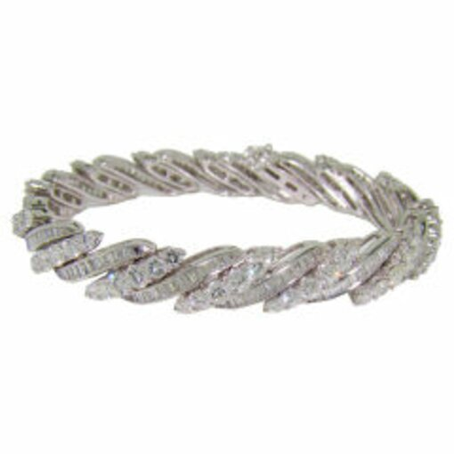 Platinum & Diamond Mixed-Cut Diamond Bracelet