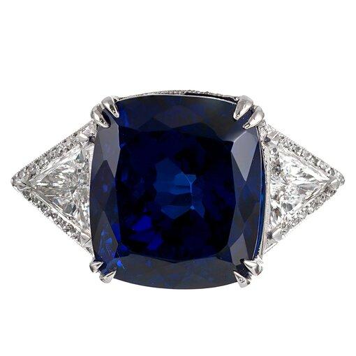 26.96 Carat Tanzanite & Diamond Ring