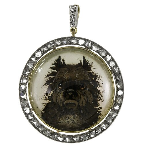 "Reverse Carved ""Naughty Terrier"" Pendant"