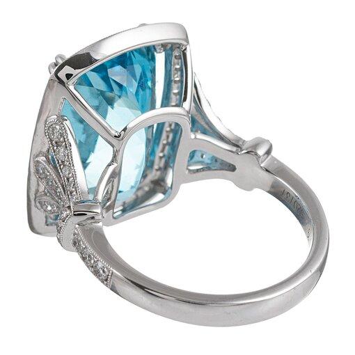 10.77 Carat Aquamarine & Diamond Ring, signed Simon G