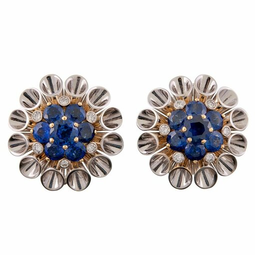 Aletto Bros Gorgeous Sapphire and Diamond Earrings