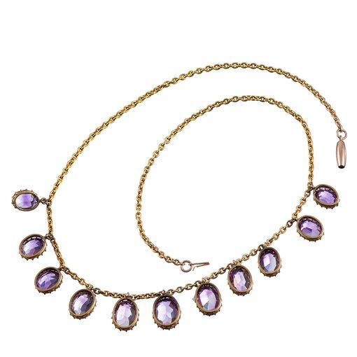 Victorian Amethyst Drop Necklace