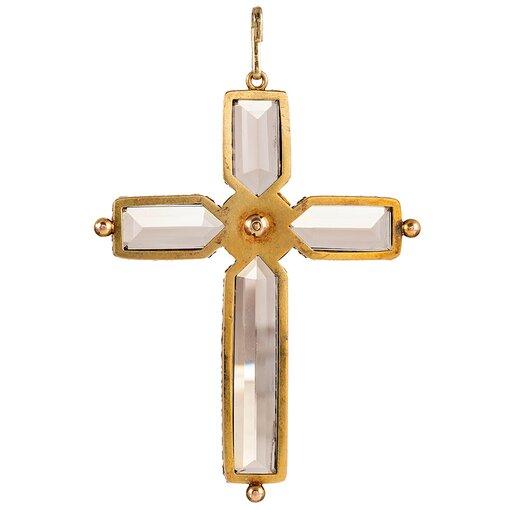Victorian Smoky Quartz Cross Pendant