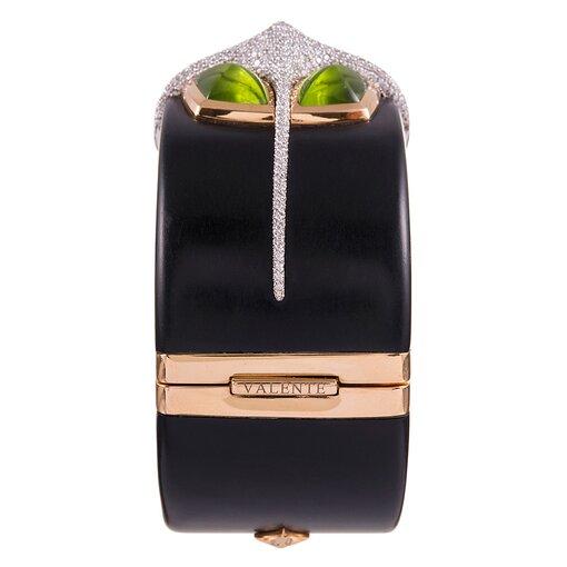 Valente Ebony Peridot Diamond Cuff