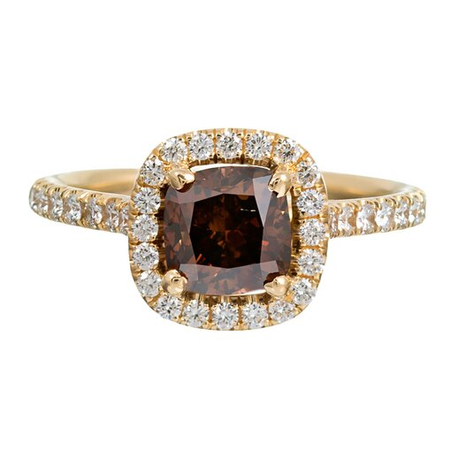 "Cushion-Shaped ""Fancy Orange-Brown"" Diamond of 1.52 Carats"