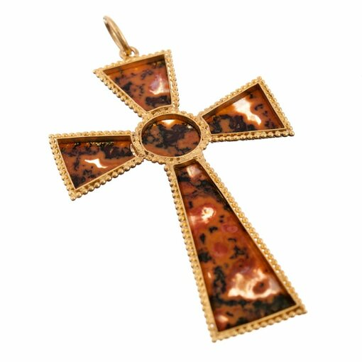 Victorian Agate Cross Pendant