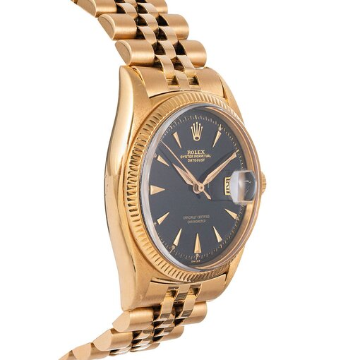 PRE-OWNED VINTAGE ROLEX RARE YELLOW GOLD DATEJUST REF #6305