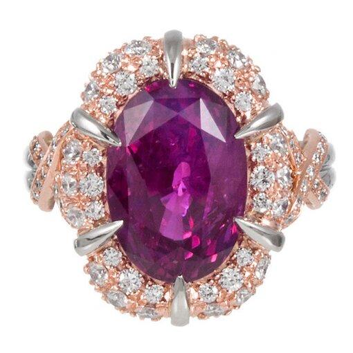 9.12 Carat Purplish Pink Sri Lanka Sapphire Ring