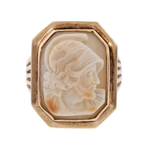 Shell Cameo Victorian Antique Men's Ring