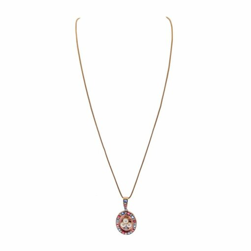 Vintage Americana Rose Gold Victorian Pendant