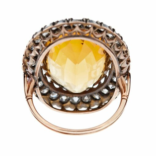 Antique Victorian Silver-over-Gold Ring