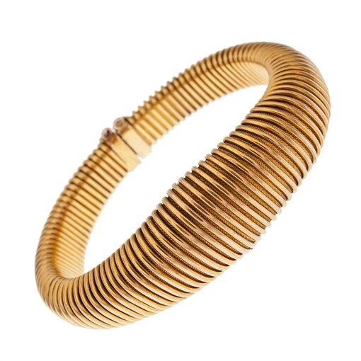 """Antique """"Gas Pipe"""" Bracelet"""