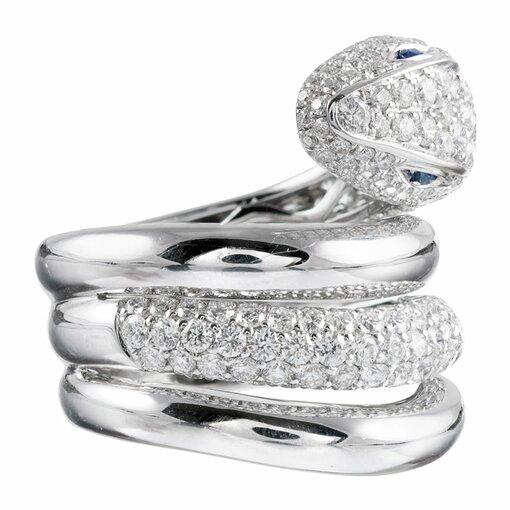 Italian Diamond Snake Ring
