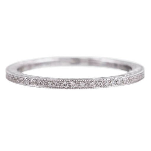Channel Set Diamond Eternity Band with Mille Grain
