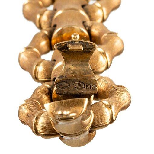 Reversible Bamboo Motif Link Bracelet