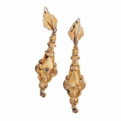 15k Yellow Gold Garnet English C/1825