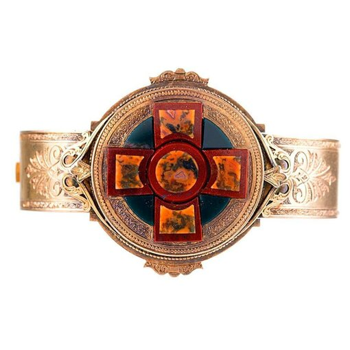 Antique Scottish Agate Bangle Bracelet