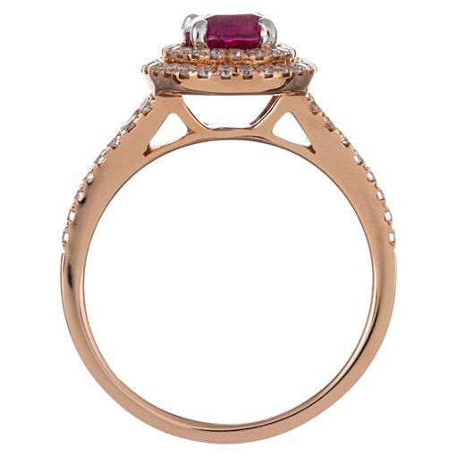 1.56 Carat Ruby & Diamond Ring, signed Simon G