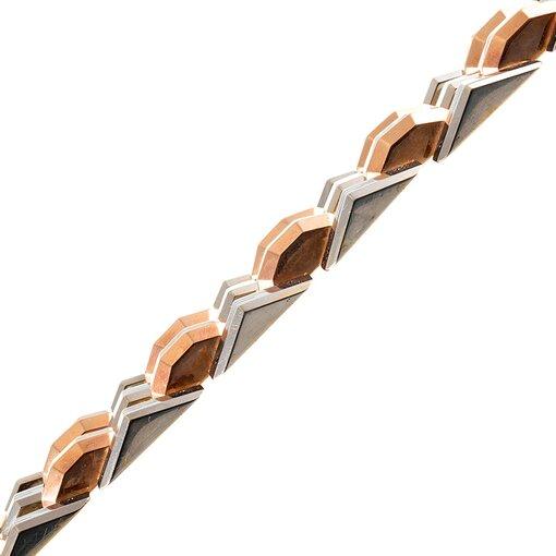 Retro Tri-Color Link Bracelet