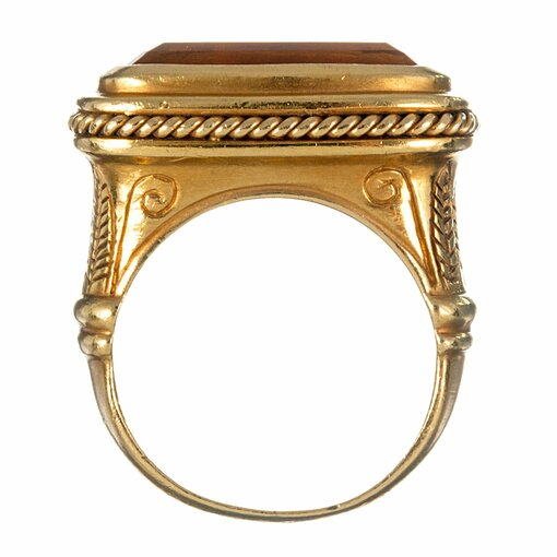 """Egyptian """"East-to-West"""" Citrine Ring"""