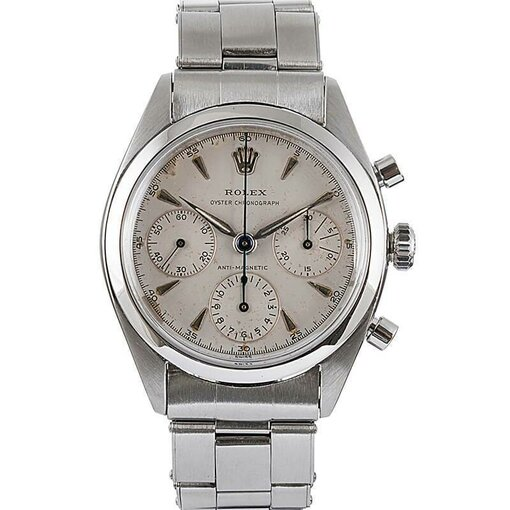 """PRE-OWNED VINTAGE ROLEX STAINLESS STEEL """"PRE-DAYTONA"""" CHRONOGRAPH REF. #6234"""