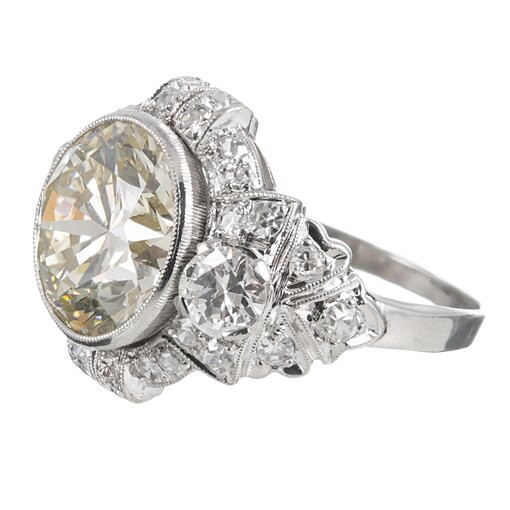 4.79 Carat Art Deco Diamond Ring