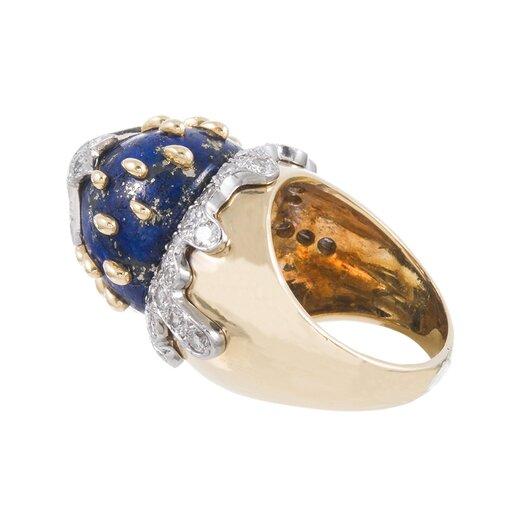Lapis Diamond Galaxy Dome Ring