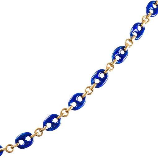 """Gucci Style"" Enamel Link Chain"