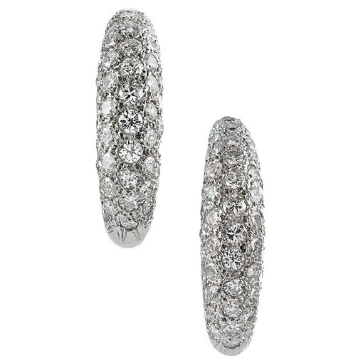 7 Carat Brilliant Diamond Hoop Earrings