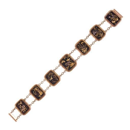 1920s Gold Shakudo Bracelet