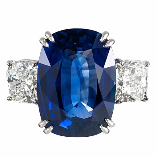 9.33 Carat Sapphire and Diamond Ring