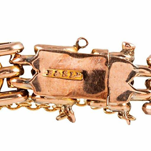 Victorian Amethyst Link Bracelet