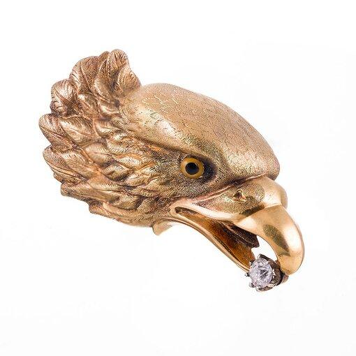 American Eagle Pin with Diamond
