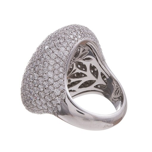 11.00 Carat Pave Diamond Dome Ring
