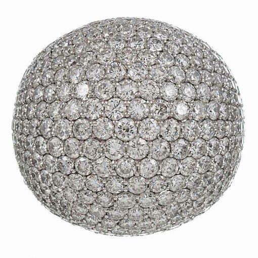 10.46 Carat Paved Diamond Dome Ring