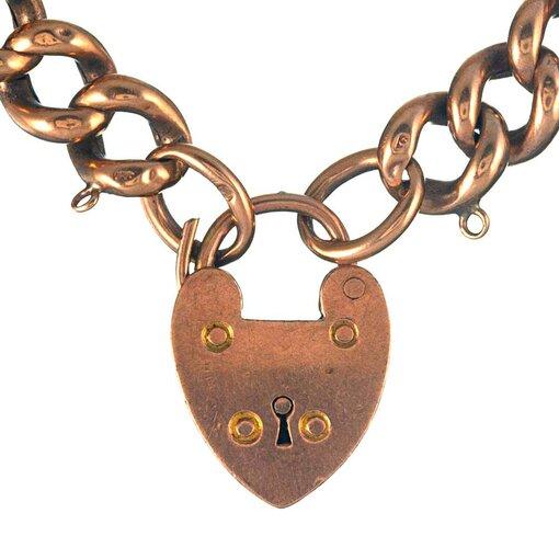 9 Karat Rose Gold Victorian Gate Bracelet