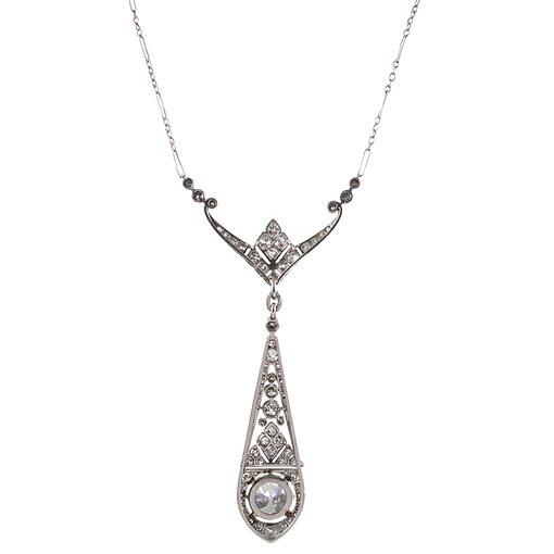 Art Deco Diamond Drop Necklace
