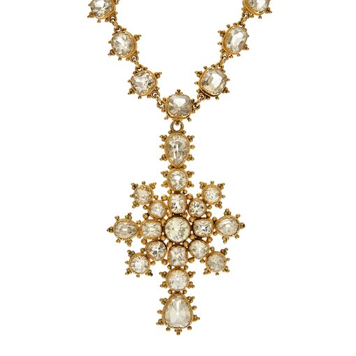 Early-Victorian Chrysoberyl Necklace, Detachable Drop