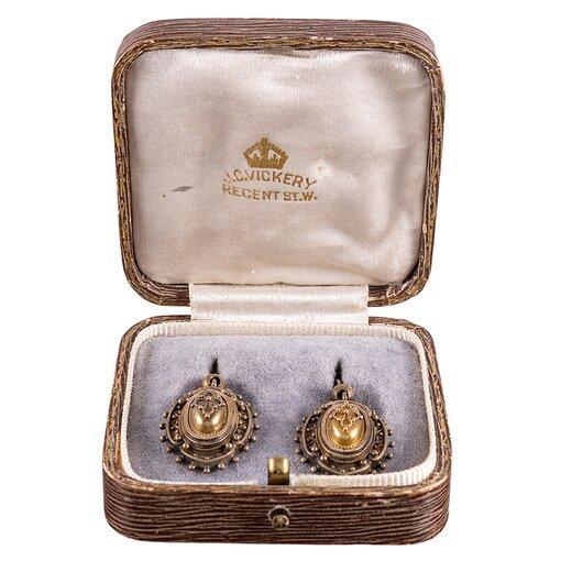 Etruscan Gold Drop Earrings