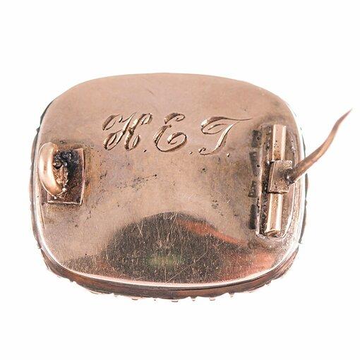 Victorian Pear-Framed Lover's Eye Pin
